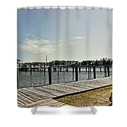 Manteo Waterfront Shower Curtain