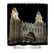 Manti Temple Night Shower Curtain
