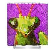 Mantis Religiosa Shower Curtain