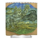Manx Cat Shower Curtain