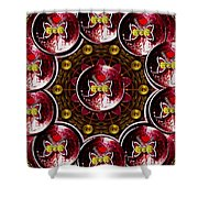 Many Bits Of Butterflies  Shower Curtain