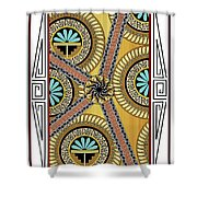 Many Circles Shower Curtain