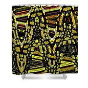 Many Flowers Abstract Shower Curtain