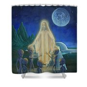 Many Mansions Shower Curtain