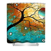 Many Moons Ago By Madart Shower Curtain