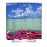 Many Pink Kayaks Shower Curtain