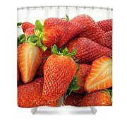 Many Strawberry Shower Curtain