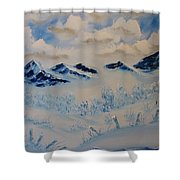 Many Valleys Shower Curtain