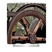 Many Wheels Shower Curtain