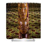 Maori Greeter Shower Curtain