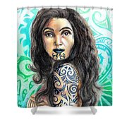 Maori Woman Shower Curtain