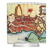 Map: Barbados, C1770 Shower Curtain