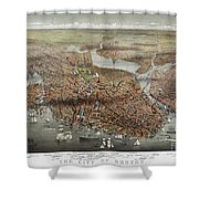 Map: Boston, C1873 Shower Curtain