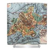 Map: Boston, C1880 Shower Curtain