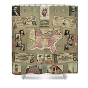 Map: Confederate States Shower Curtain