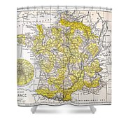 Map: France Shower Curtain