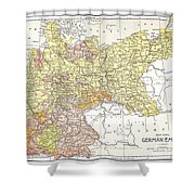 Map: German Empire Shower Curtain