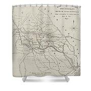 Map Illustrating General Sherman's March Through Georgia  Shower Curtain
