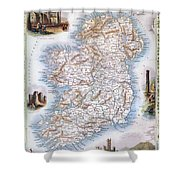 Map: Ireland, 1851 Shower Curtain