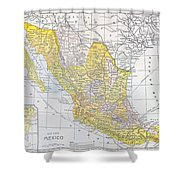 Map: Mexico Shower Curtain