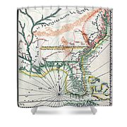 Map: North America, 1742 Shower Curtain