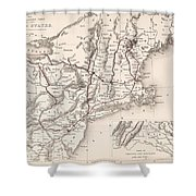 Map: Northeast U.s.a Shower Curtain