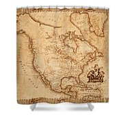 Map Of America 1800 Shower Curtain