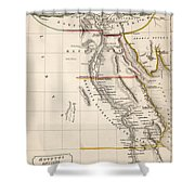 Map Of Aegyptus Antiqua Shower Curtain by Sydney Hall