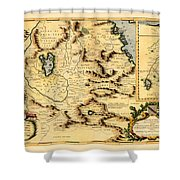 Map Of Africa 1690 Shower Curtain