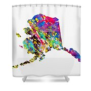 Map Of Alaska-colorful Shower Curtain