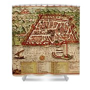 Map Of Algiers 1541 Shower Curtain