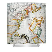 Map Of America, 1779 Shower Curtain