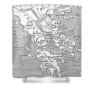 Map Of Ancient Greece Shower Curtain