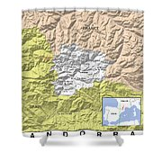 Map Of Andorra Shower Curtain