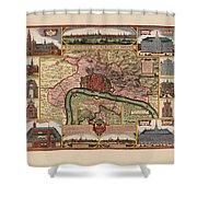 Map Of Antwerp 1675 Shower Curtain