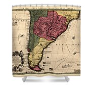 Map Of Argentina 1700 Shower Curtain
