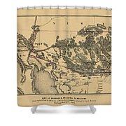 Map Of Arizona 1857 Shower Curtain