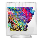 Map Of Arkansas-colorful Shower Curtain