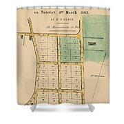 Map Of Auckland 1863b Shower Curtain