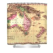 Map Of Australia 1828 Shower Curtain