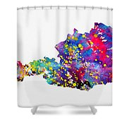 Map Of Austria-colorful Shower Curtain