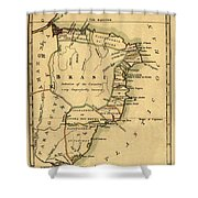 Map Of Brazil 1808 Shower Curtain