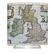 Map Of Britain Shower Curtain