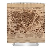 Map Of Cairo 1600 Shower Curtain