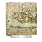 Map Of Calcutta 1857 Shower Curtain