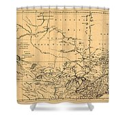 Map Of Canada 1762 Shower Curtain