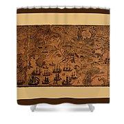 Map Of Cape Breton 1764 Shower Curtain