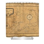 Map Of Cape Cod 1931 Shower Curtain