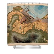 Map Of Cape Town 1947 Shower Curtain