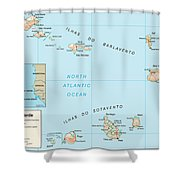 Map Of Cape Verde Shower Curtain